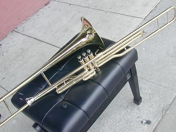 bonda tenor piston valve trombone bb gold brass reverb. Black Bedroom Furniture Sets. Home Design Ideas