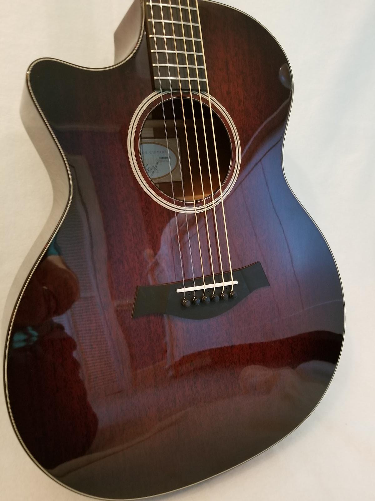 Taylor 524ce Left Handed 2013 Mahogany Burst Edge Gloss Includes Taylor Case