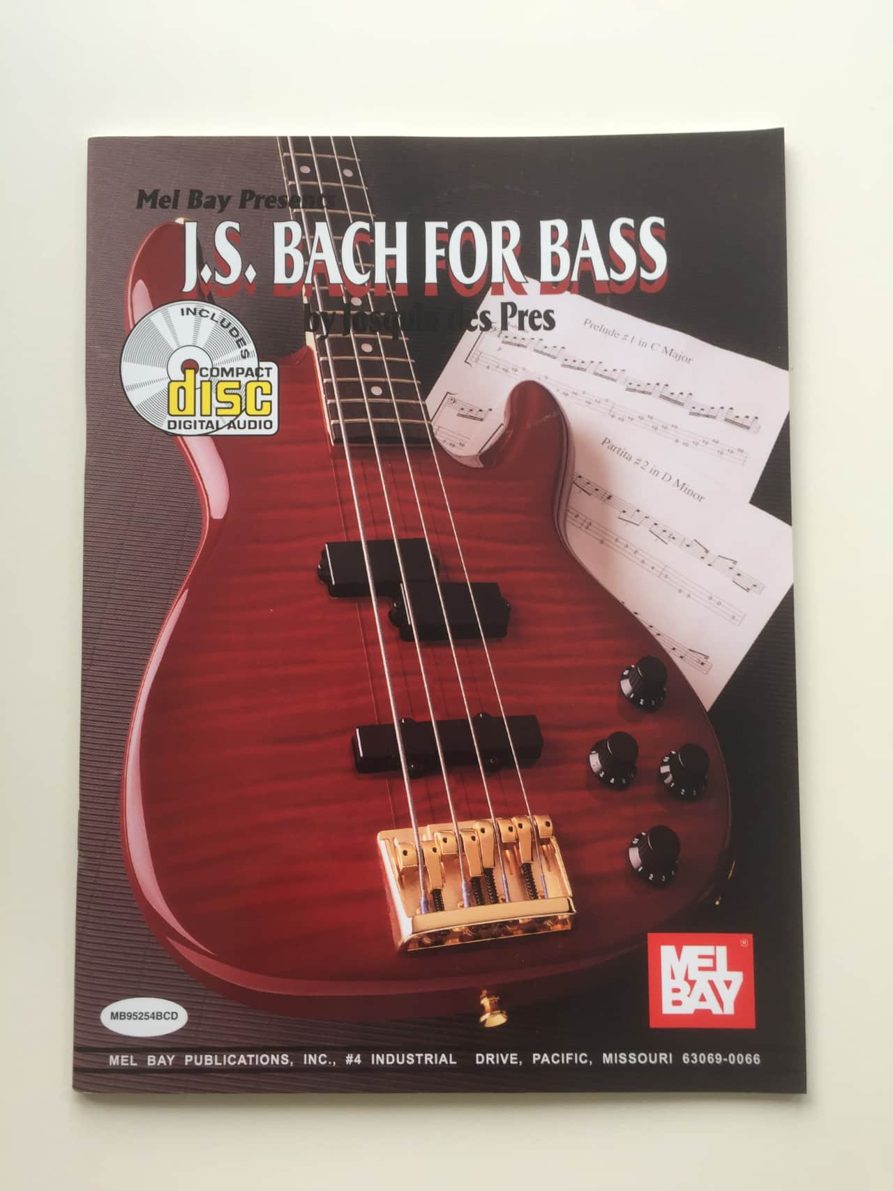 Mel Bay Js Bach For Bass With Cd Reverb