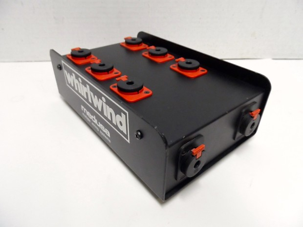 """Used Whirlwind Audio Snake Box 1//4/"""" Stereo Input Output Splitter"""