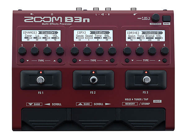 zoom b3n multi effects bass guitar pedal the pro audio guys reverb. Black Bedroom Furniture Sets. Home Design Ideas