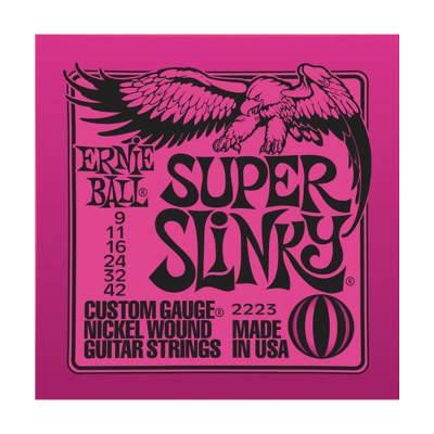 ERNIE BALL Super Slinky Nickel Wound Electric Guitar Strings (2223) Single Pack