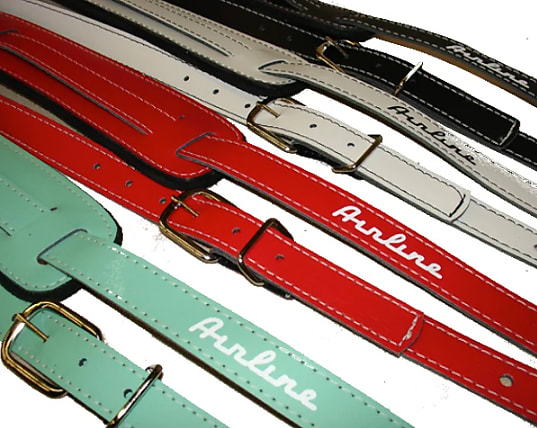 Airline Vintage-Style Leather Straps w/ Color Options