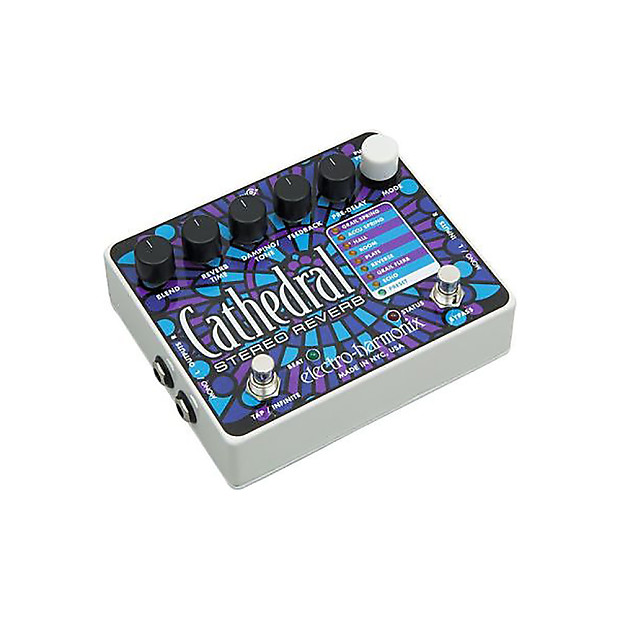 Electro-Harmonix Cathedral Deluxe Stereo Reverb Guitar Effect Pedal