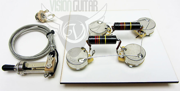 1956 60 pre wired les paul wiring harness kit long shaft cts reverb 1956 60 pre wired les paul wiring harness kit long shaft cts pots bumblebee caps publicscrutiny Images