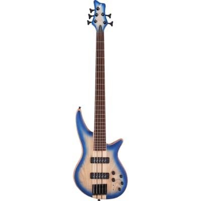 Jackson Pro Series Spectra Bass SBA V, Blue Burst Electric Bass Guitar for sale