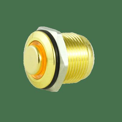 Tesi FILO 16MM LED Momentary Push Button Guitar Kill Switch Gold / Yellow