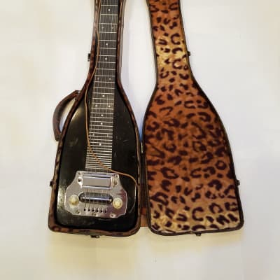 Electromuse Lap Steel Guitar and case 1940's Black for sale