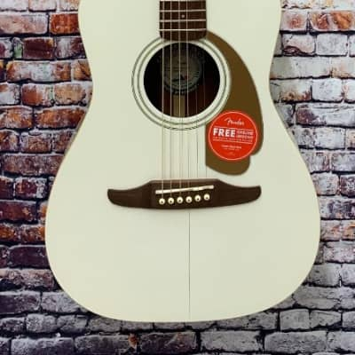 Fender California Serie Malibu Player Acoustic Electric Guitar, Arctic Gold #F10