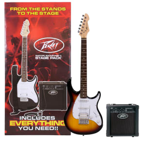 Peavey Raptor Plus Stage Pack Electric Guitar/Amp Bundle Sunburst