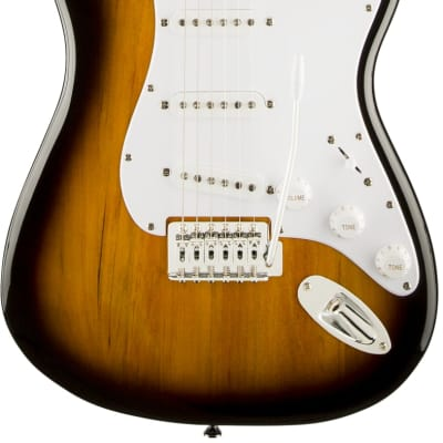 Fender Squier Bullet Stratocaster SSS with Trem in Brown Sunburst with Laurel Fingerboard for sale