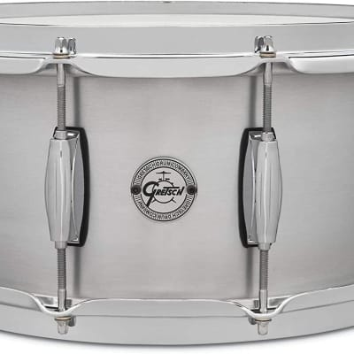 Gretsch Grand Prix Aluminum 6.5x14 Snare Drum with 302 Hoops - S1-6514-GP