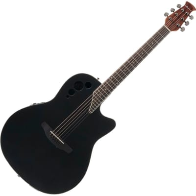 Ovation AE44-5S Applause Elite 6-String RH Acoustic Electric Guitar-Satin Black ae-44-5-s