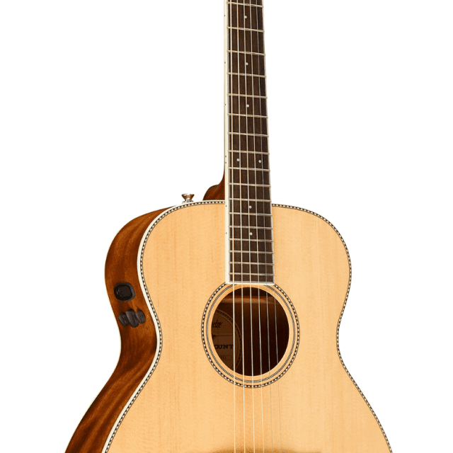 Fender PM-TE Standard Travel Acoustic-Electric Guitar Natural w/Hardshell Case image