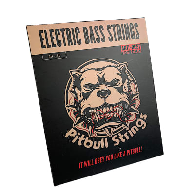 Premium Electric Bass 4 Strings 40-95 - Pitbull Strings Gold Series - GEB4-SL
