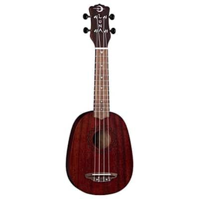 Luna Guitars UKE VMP RDS Luna Uke Vintage Mahogany Pineapple - Red Satin for sale
