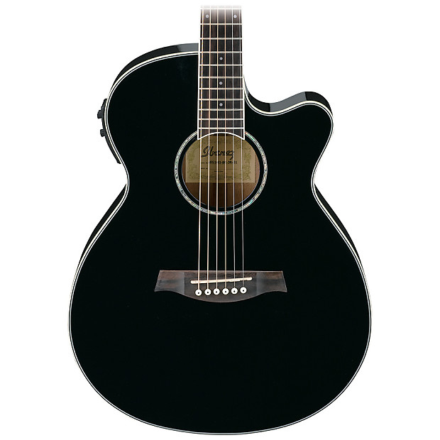 Ibanez Aeg10iibk Ae Series Acoustic Electric Guitar Black Reverb