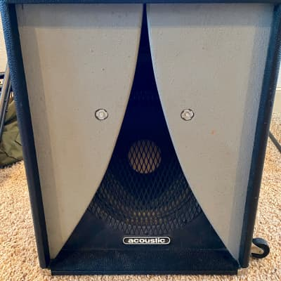 Acoustic 12 inch bass cabinet 1970's Black / Grey (mystery cab)
