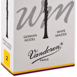 Vandoren CR162 White Master Bb Clarinet Reeds - Strength 2 (Box of 10)