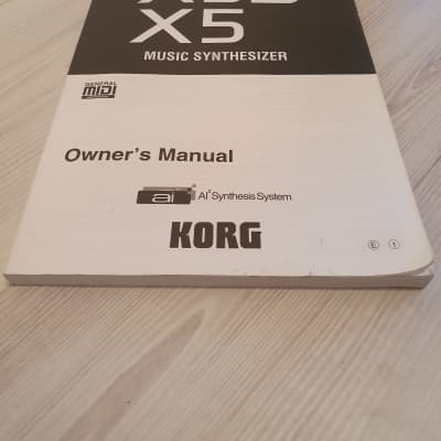 Korg X5D/X5 Manual Plus SED-01 SoundEditor Disk. English Language. Good Condition. Global Ship.