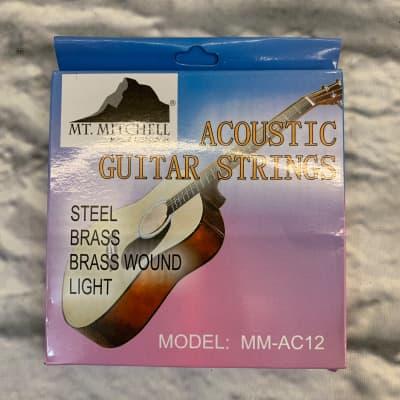 Mt. Mitchell MM-AC12 Steel Brass Brass Wound Light 12-56 Acoustic Guitar Strings
