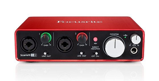 Focusrite Scarlett 2i2 Audio Interface w/Pro Tools and Ableton Live  (Generation 2)