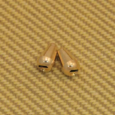 SK-0710-002 (2) Gold Plastic Switch Tips for Strat Guitar image