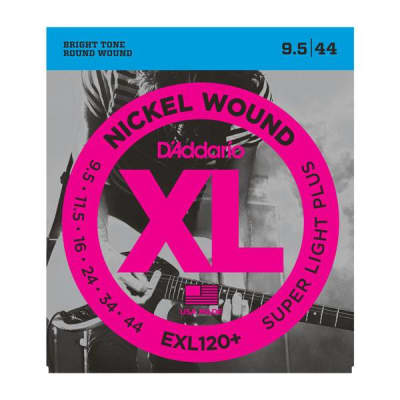 D'Addario EXL120  Nickel Wound Electric Guitar Strings, Super Light Plus, 9.5-44