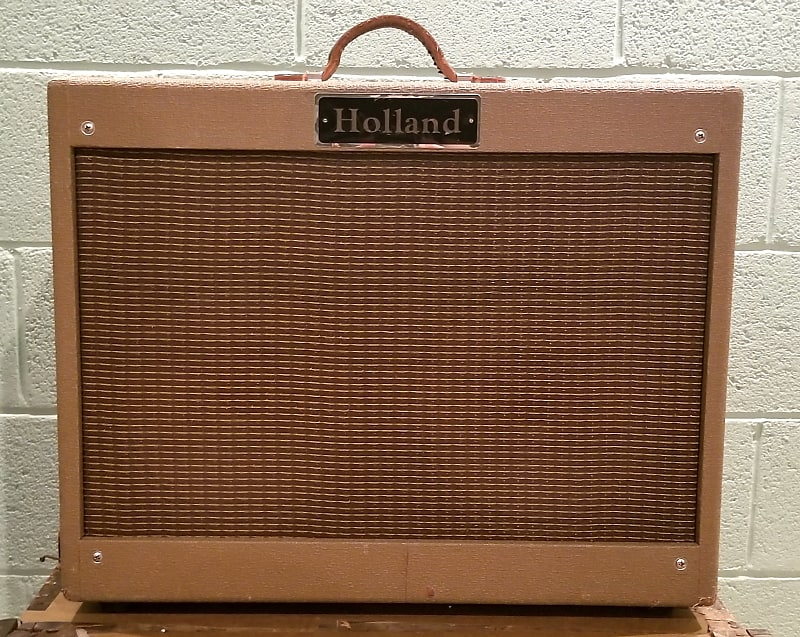 holland 2x10 guitar tube combo amp brown free shipping reverb. Black Bedroom Furniture Sets. Home Design Ideas
