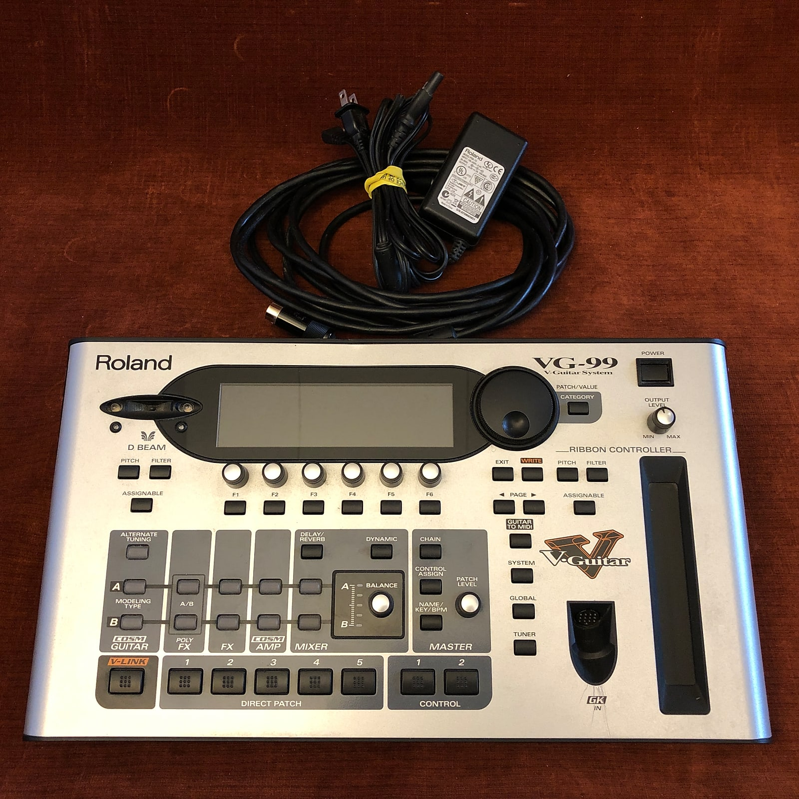 Roland VG-99 V-Guitar System Guitar Synth w/ MIDI Cable & Power Supply