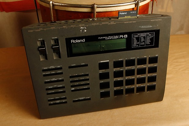 roland r 8 drum machine human rhythm composer reverb. Black Bedroom Furniture Sets. Home Design Ideas
