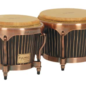 """Tycoon MTBHC-ACT1 Master Hand-Crafted Pinstripe Series 7/8.5"""" Bongos"""