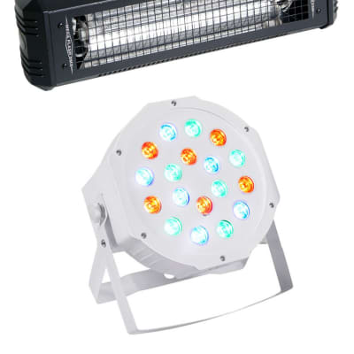 American DJ Mega Flash DMX 800w Compact DMX Strobe Light+Sound Sensor+Wash Light