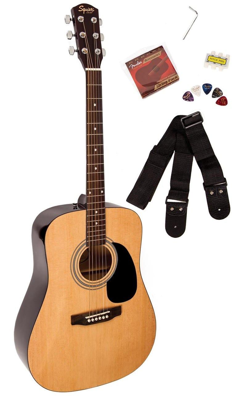squier by fender sa 50 acoustic guitar natural reverb. Black Bedroom Furniture Sets. Home Design Ideas