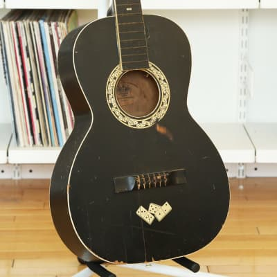 1930s Regal Le Domino Vintage Acoustic Guitar Stella Parlor w/Dice Inlay - Rare Guitar, Fun Project! for sale