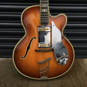 Hofner Committee Acoustic with Floating Pickup 1959 Brunette for sale