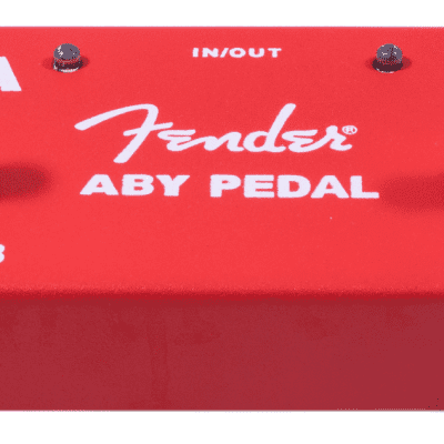 Fender® 2-Switch ABY Pedal, Red Red for sale