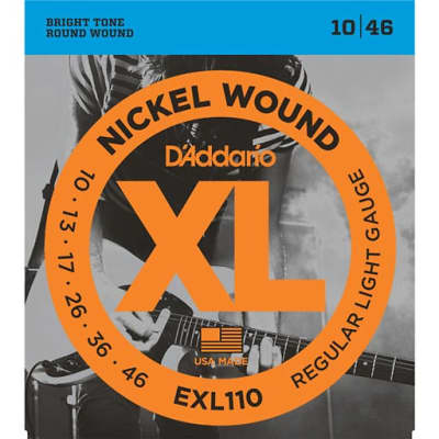 D'Addario EXL110-3D Nickel Wound Electric Guitar Strings Regular Light 10-46 3 Sets