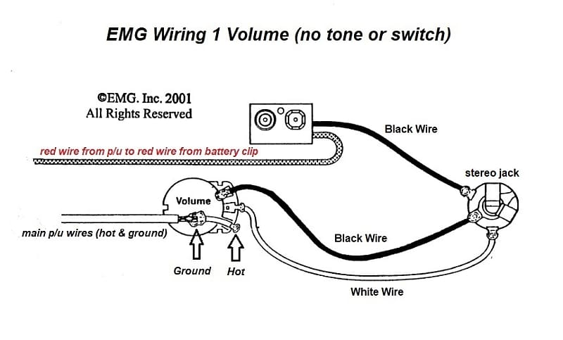 emg 1 volume wiring diagram switchcraft 152b black stereo long threaded jack with battery reverb  switchcraft 152b black stereo long