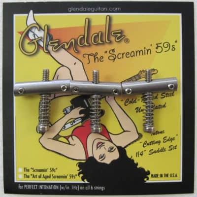 Glendale Screamin' 59s Cold Rolled Steel Telecaster Saddles for sale