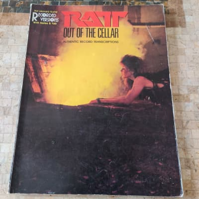 Ratt Out Of The Cellar Guitar Tab Book