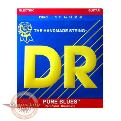 DR PHR9 Pure Blues Electric Guitar Strings .009-.042
