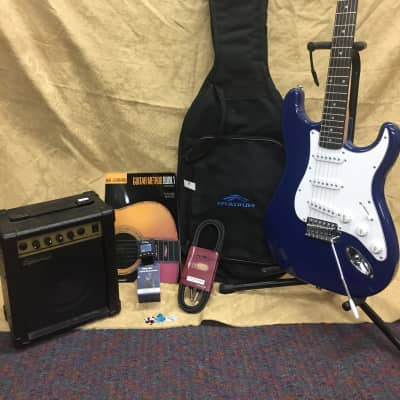 Silvertone Strat Electric Guitar Bundle-Everything Included-Choose Your Color!
