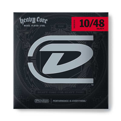 Dunlop Heavy Core Electric Guitar Strings, Nickel Wound - 10's Heavy - 6-String Set