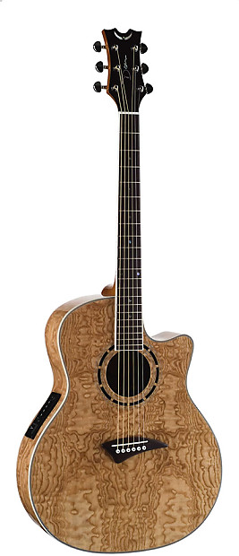 Dean Exotica Quilted Ash Acoustic Electric Guitar Gloss