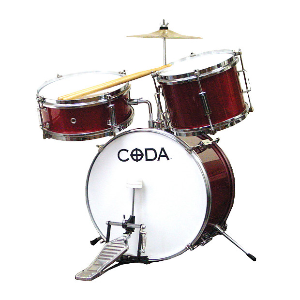 Coda 3 Piece Junior Drum Set Red Great Music Products Reverb