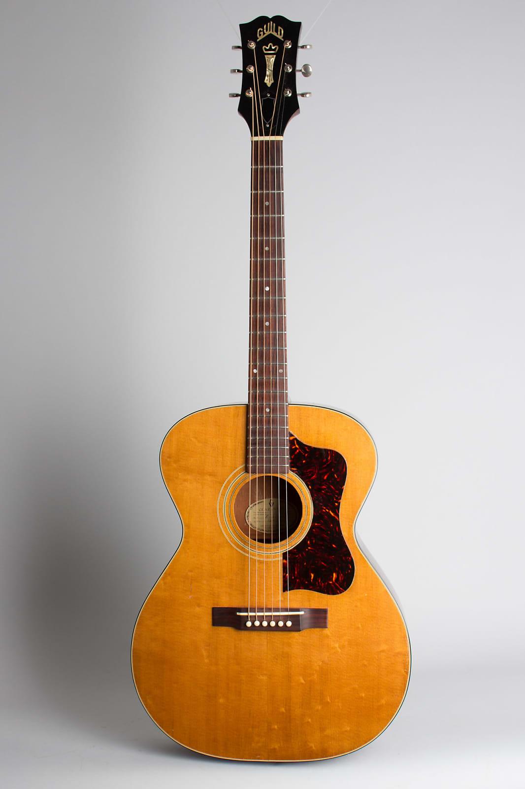 Guild  F-30-NT Flat Top Acoustic Guitar (1961), ser. #16453, original brown alligator grain chipboard case.