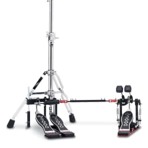 DW DWCP5520 5000 Series Heavy Duty Double-Braced 2 Leg Hi-Hat/Cowbell Combo Stand