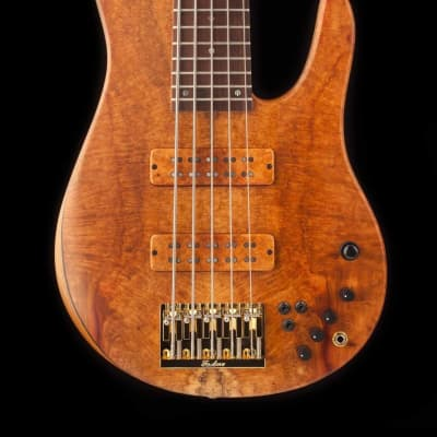 Fodera  2017 Fodera Imperial MG 5 String Elite Golden Amboyna / Roasted Ash for sale