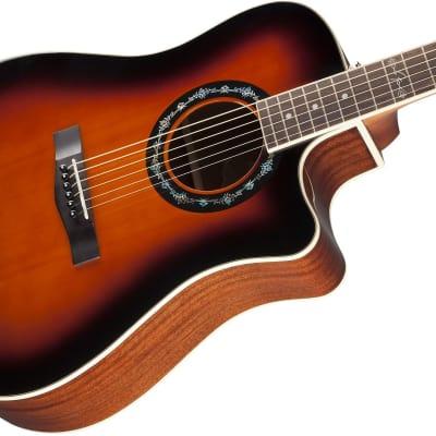 Fender T-Bucket 100CE Spruce/Mahogany Cutaway Dreadnought w/ Electronics 3-Color Sunburst